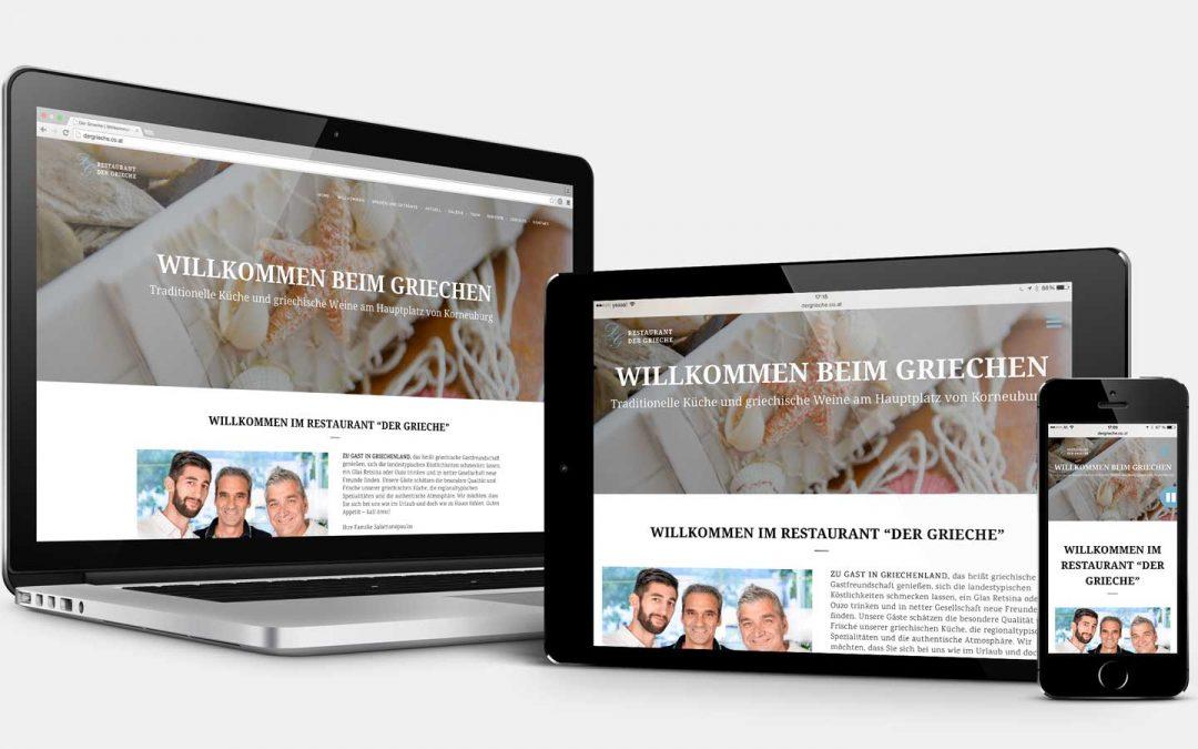 "CeeQoo realisiert die responsive Website des Restaurants ""Der Grieche"""