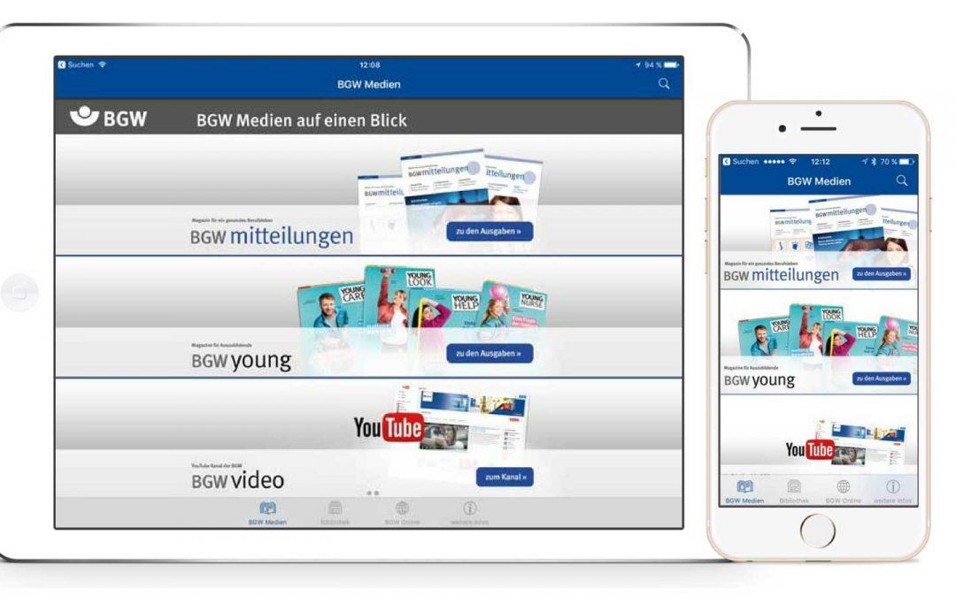 BGW Medien – Interaktive Magazin-App mit Volltextsuche