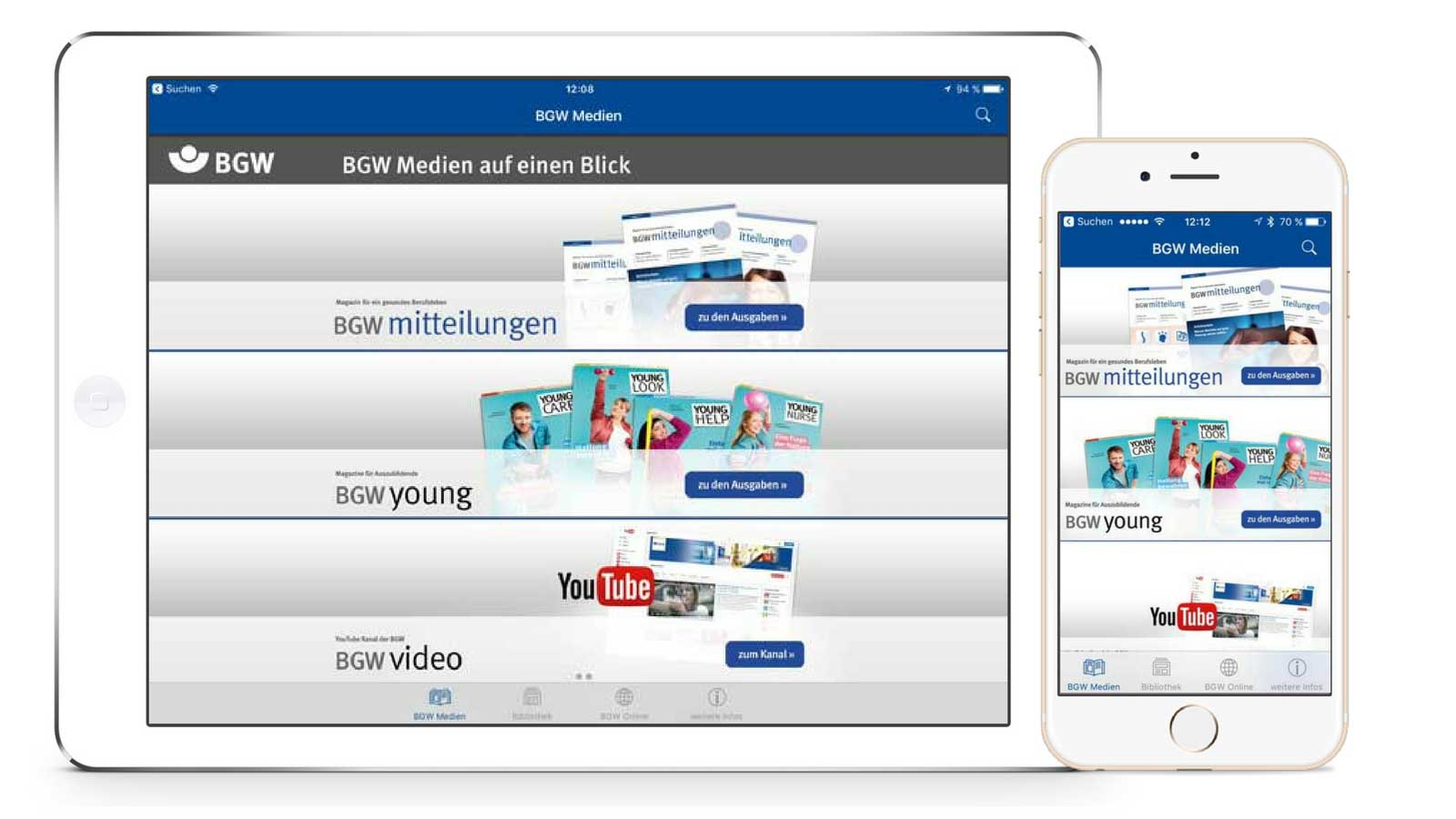 BGW Medien – Interaktive Magazin-App