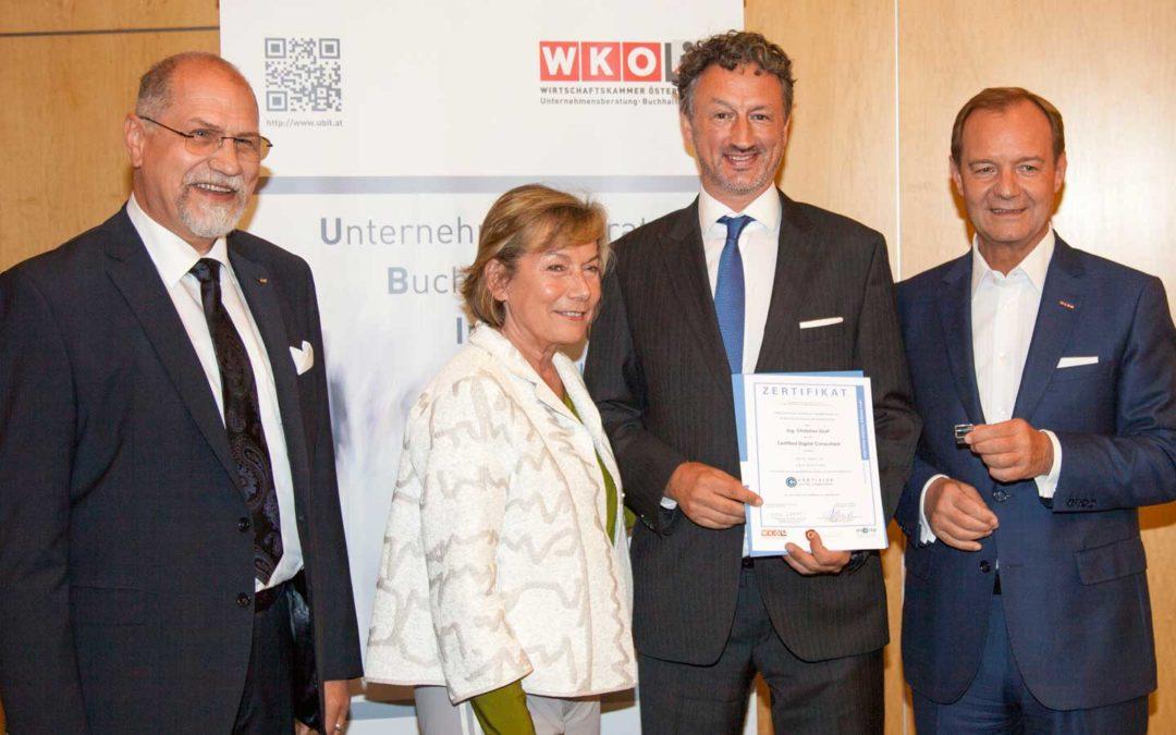 Christian Graf ist erster zertifizierter Digitalisierungsberater im Bezirk Korneuburg