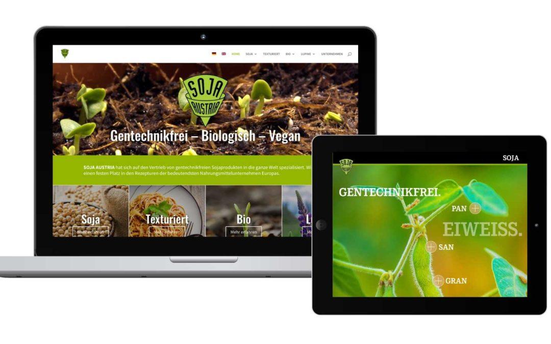 Nach der Sales-App nun auch die Website für SOJA AUSTRIA