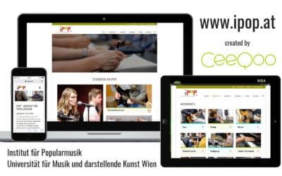 CeeQoo relauncht Website des Instituts für Popularmusik