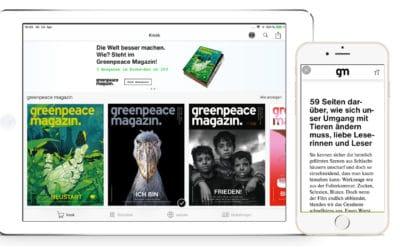 Greenpeace-Magazin-App: mit innovativem HTML-Lesemodus bequem lesen