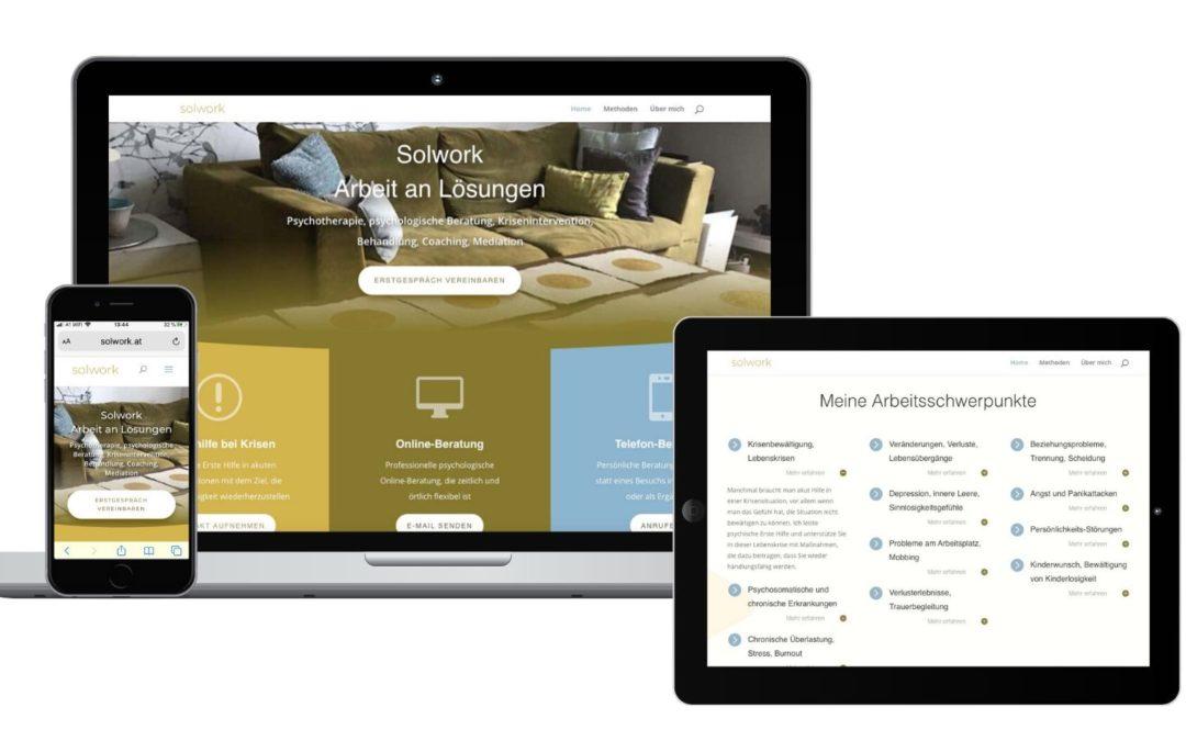 CeeQoo präsentiert neue Website solwork.at von Christine Stöger-Knes