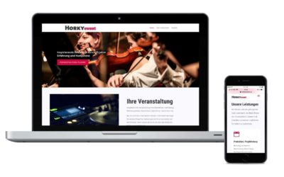 Neu in unserem Portfolio: Die Website horkyevent.at